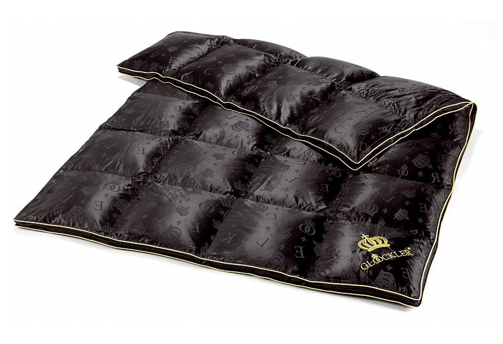 GLÖÖCKLER BY KBT BETTWAREN Gänsedaunenbettdecke Glööckler by KBT Bettwaren Seiden Luxus, Warm, 90% Daunen, 10% Federn