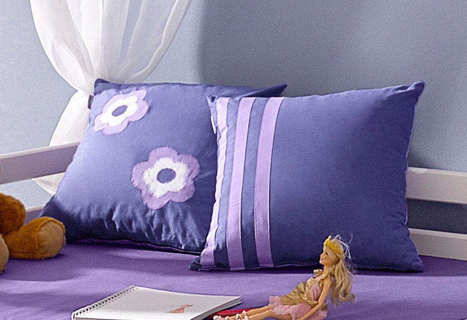 HOPPEKIDS Hoppekids Kissen »Purple Flower« (2 Stck.)