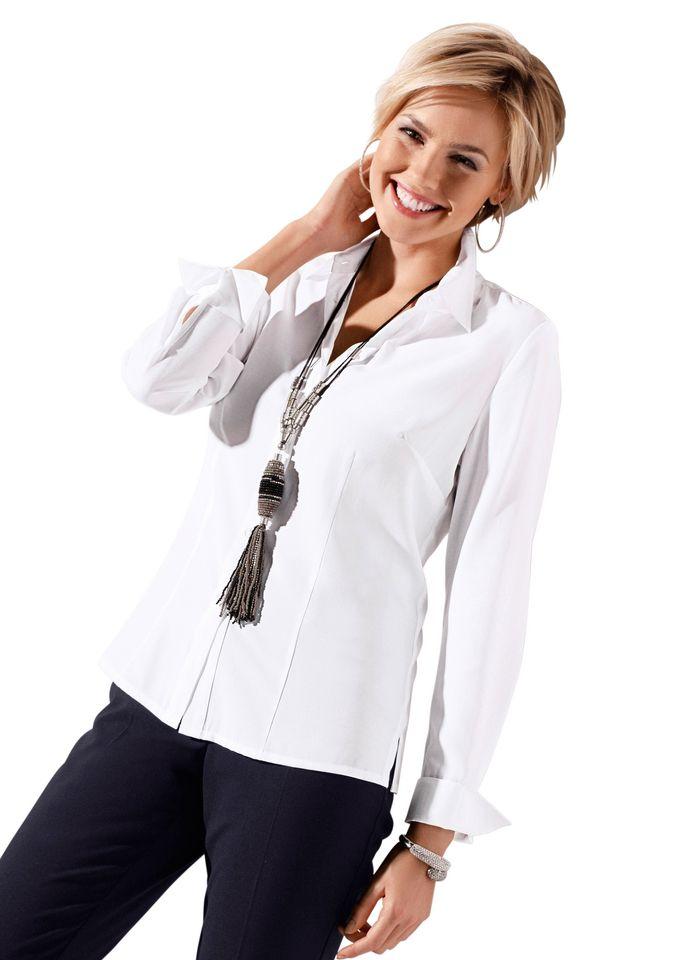 CLASSIC INSPIRATIONEN Classic Inspirationen Bluse mit Hemdkragen