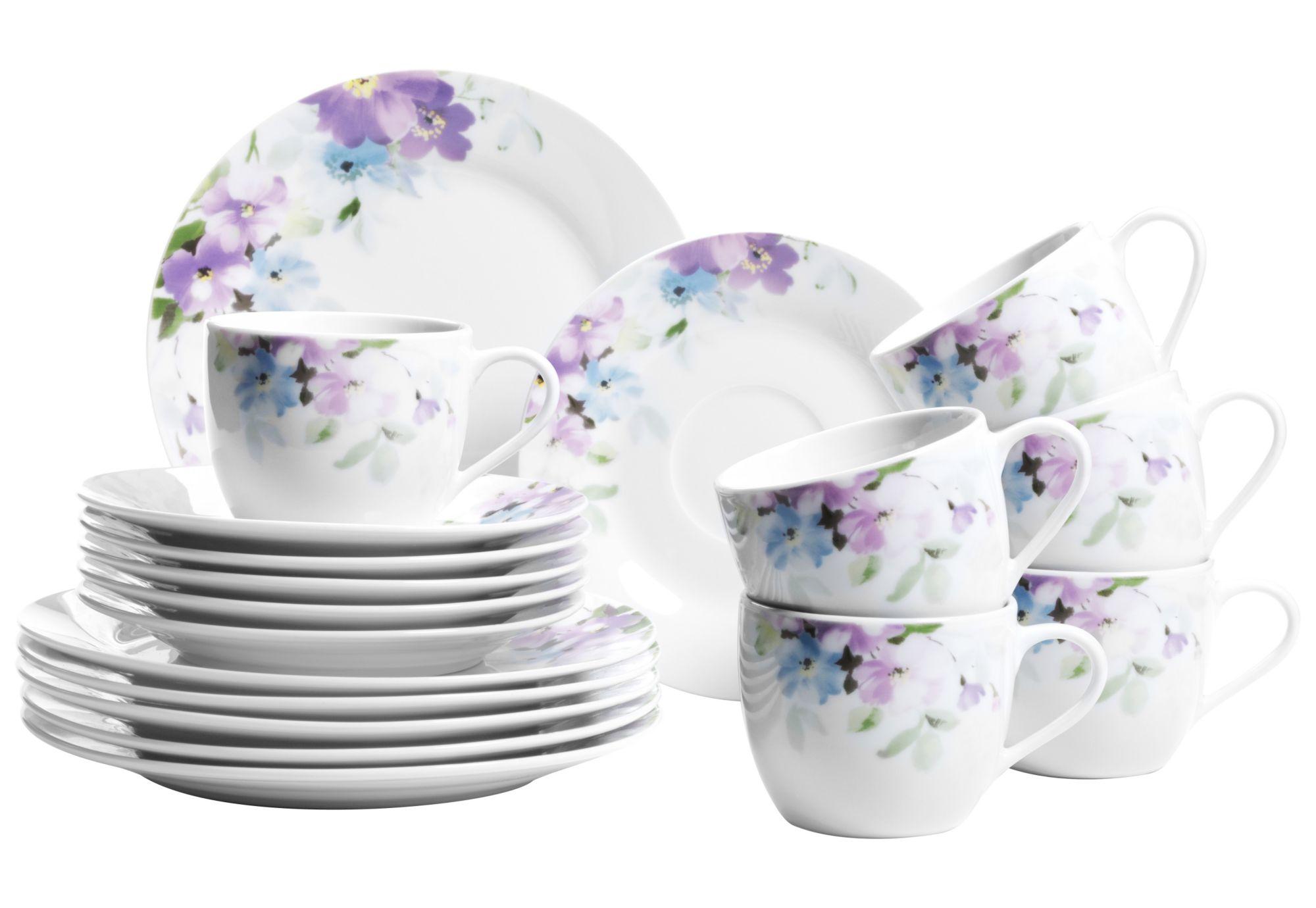 DOMESTIC Domestic Kaffeeservice, Porzellan, »Mona« (18-teilig)