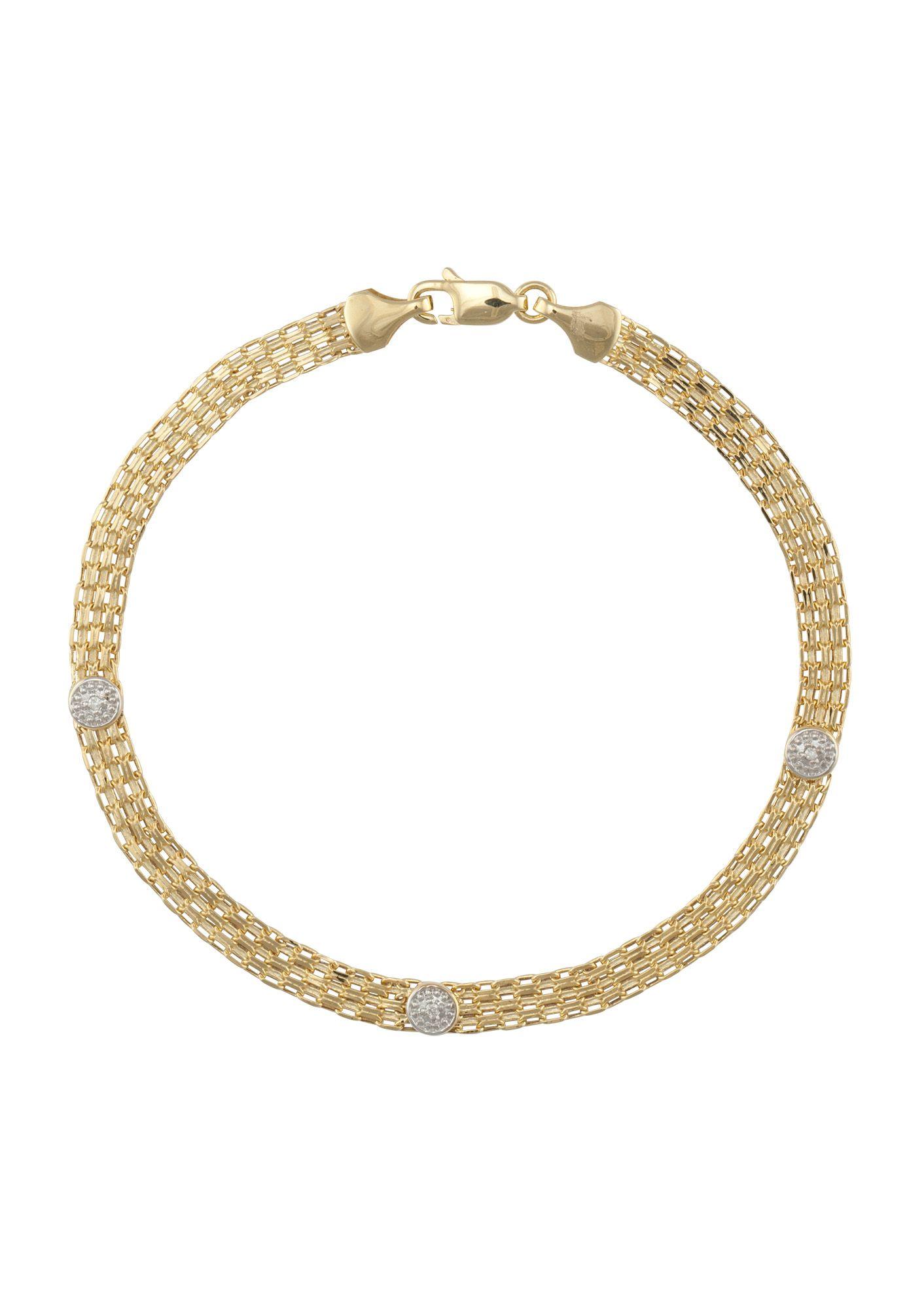 FIRETTI firetti Armschmuck: Armband in Bismarckkettengliederung mit Diamanten