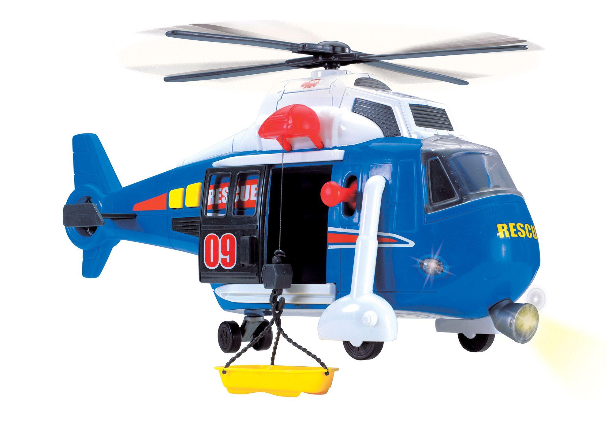 DICKIE TOYS Dickie Toys Helikopter mit drehbarem Rotor, Licht und Sound