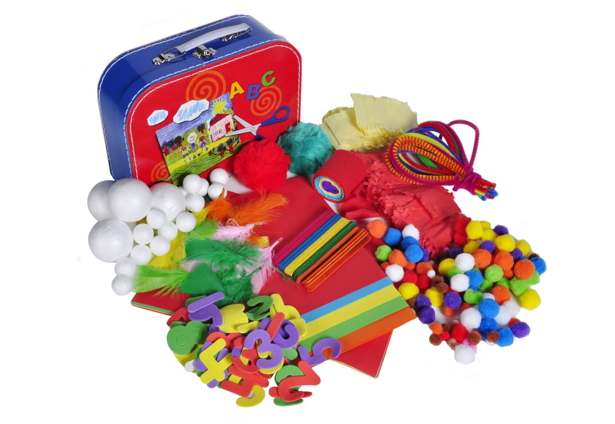 KNORR TOYS Bastelkoffer, »Koffer Set - Arts & Crafts«, knorr toys