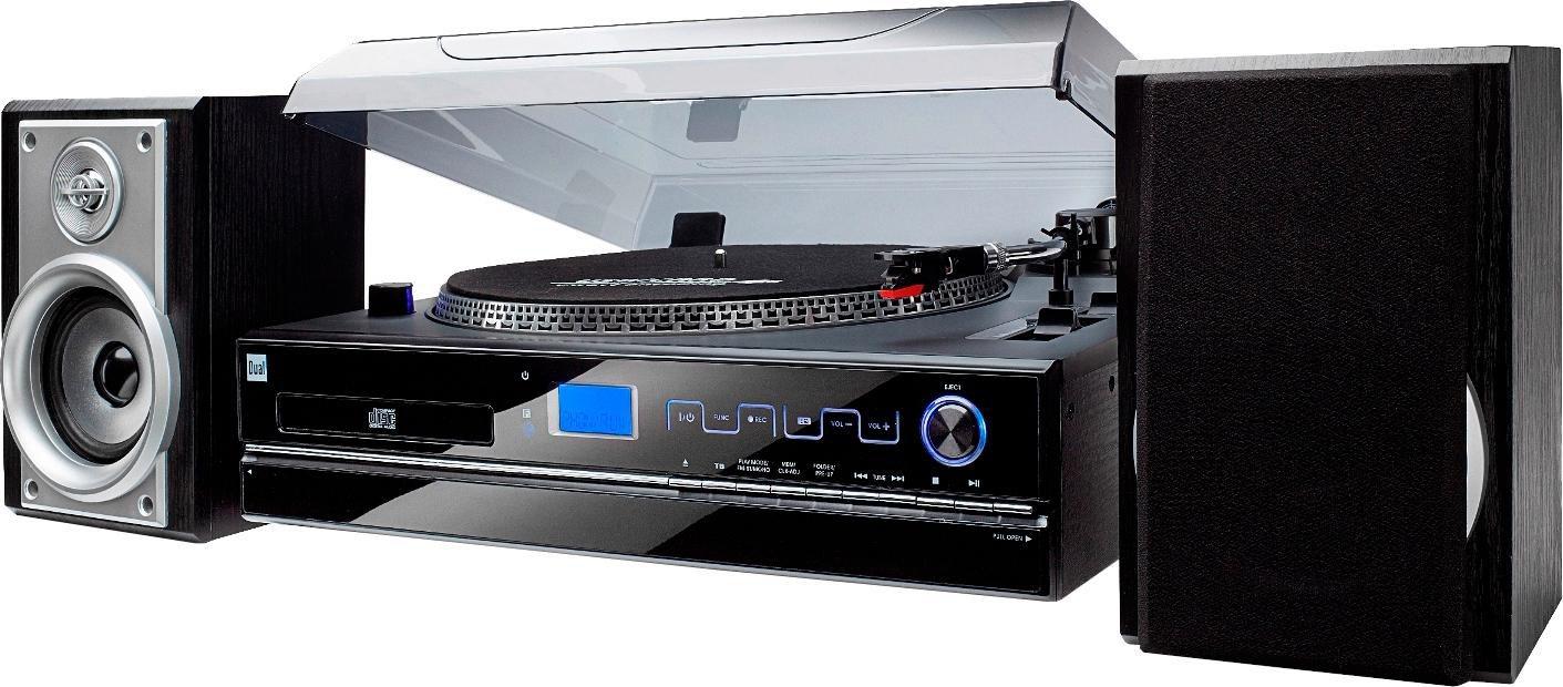 DUAL Dual NR100 Microanlage (Plattenspieler, CD-Player, Kassette, Radio)