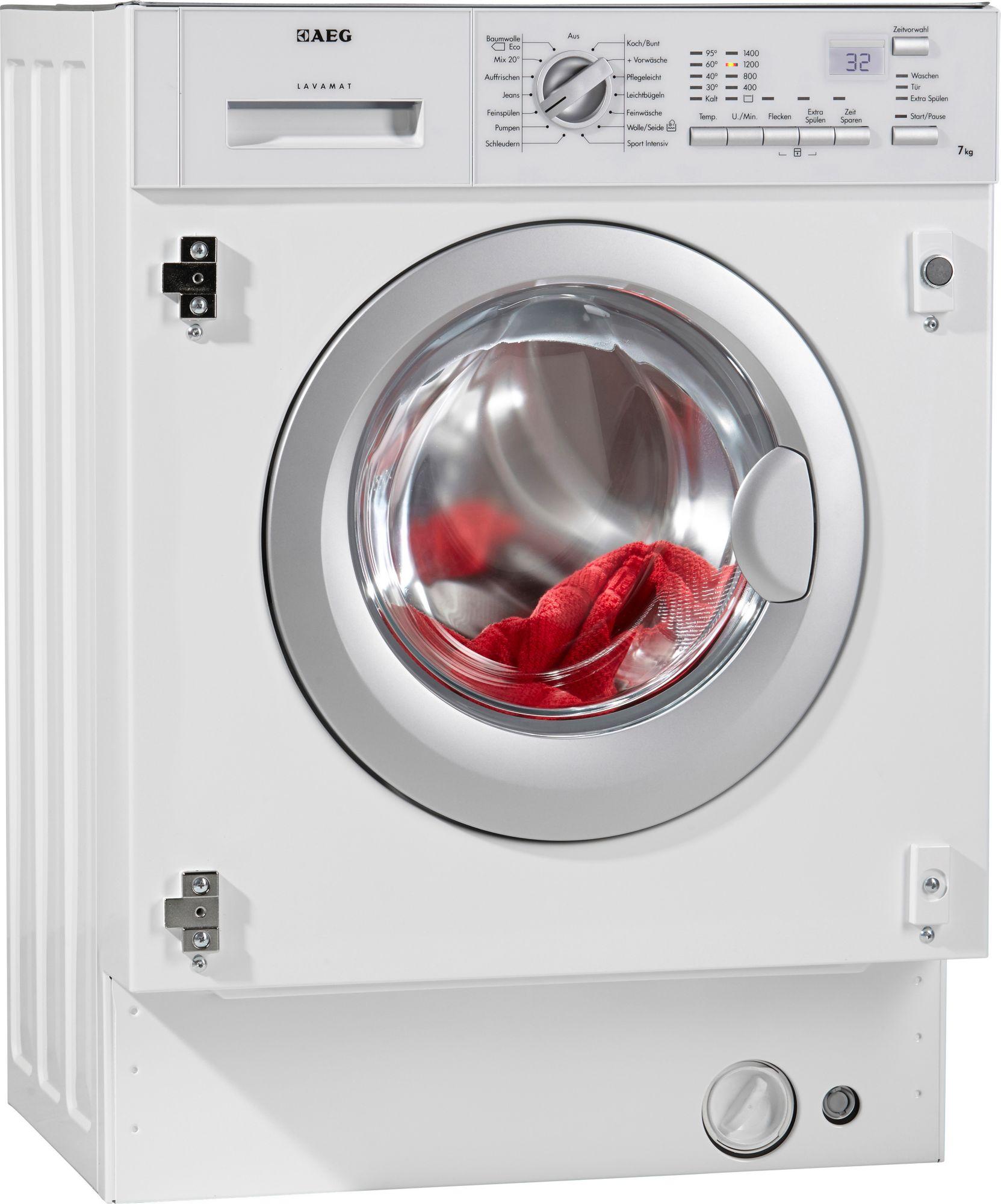 AEG ELECTROLUX AEG L61470BI Weiß Einbau-Waschmaschine, 7kg, A++ (EEK: A++)