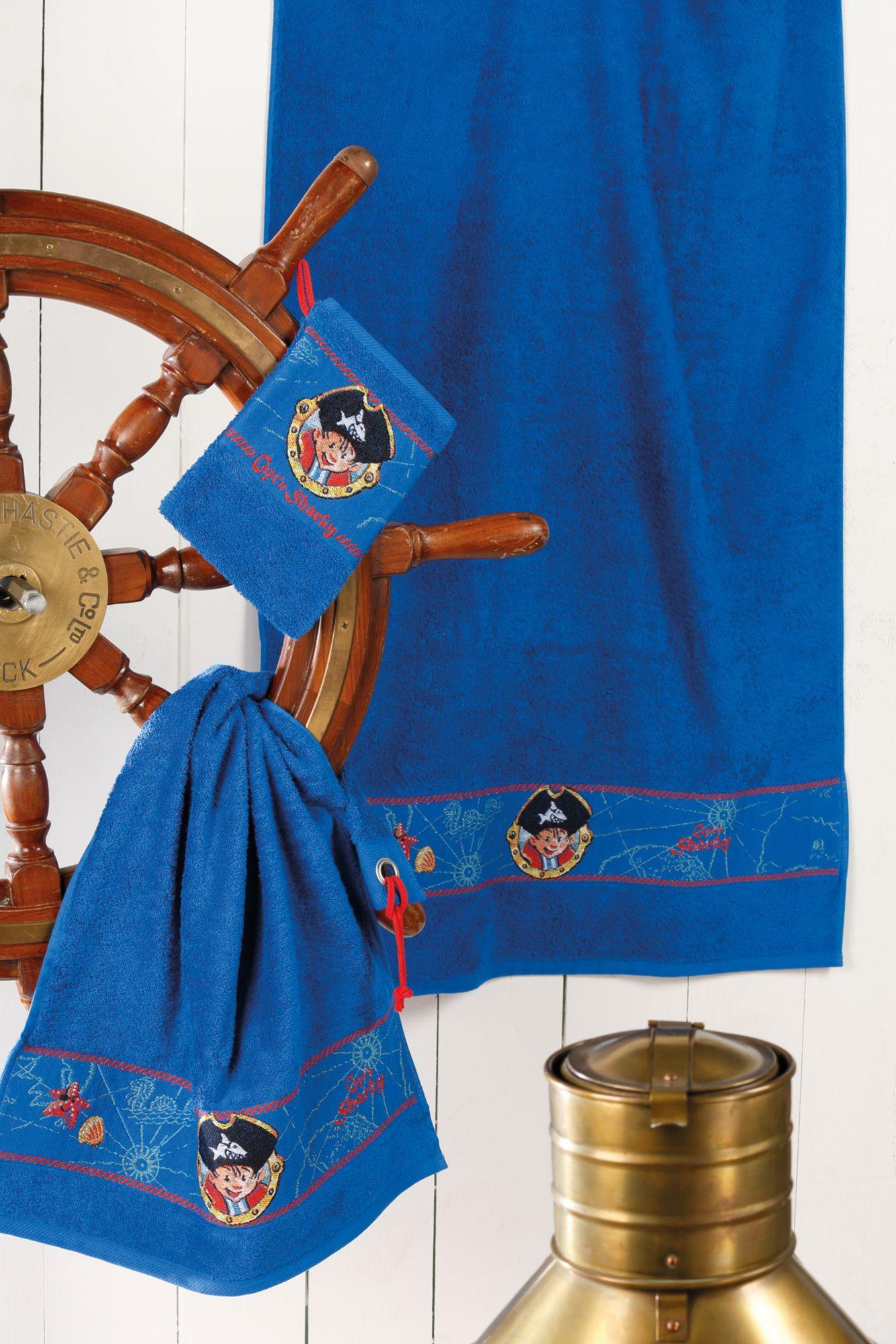 CAPTN SHARKY Handtuch Set, Capt'n Sharky, »Sharky«, mit Piraten Bordüre