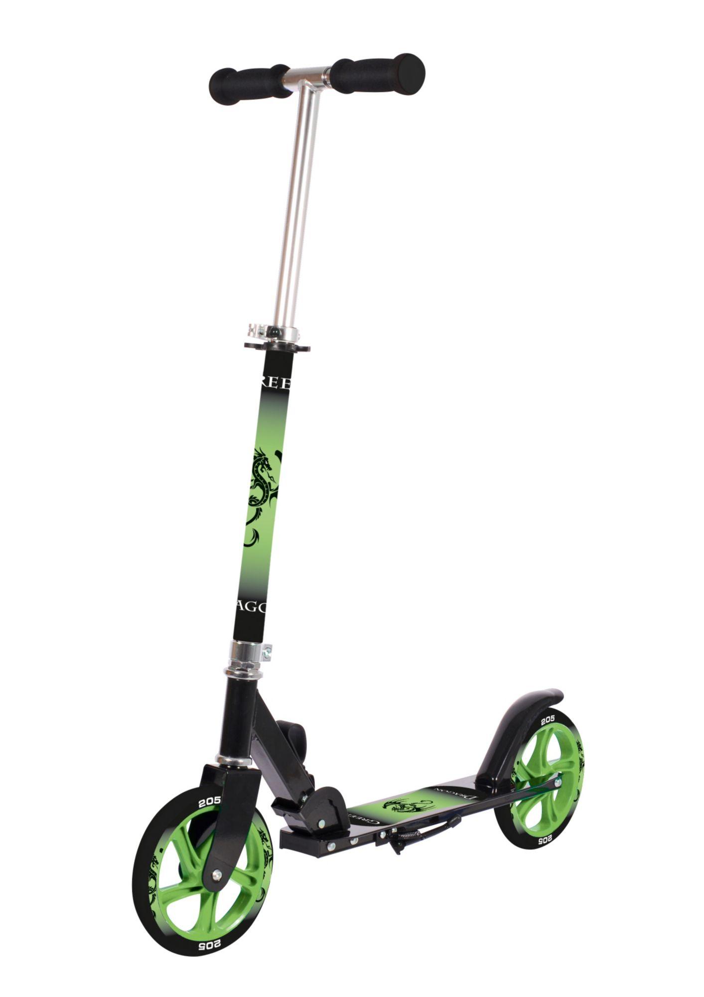 HUDORA Alu-Cityroller, schwarz-grün, »Green Dragon«, Hudora