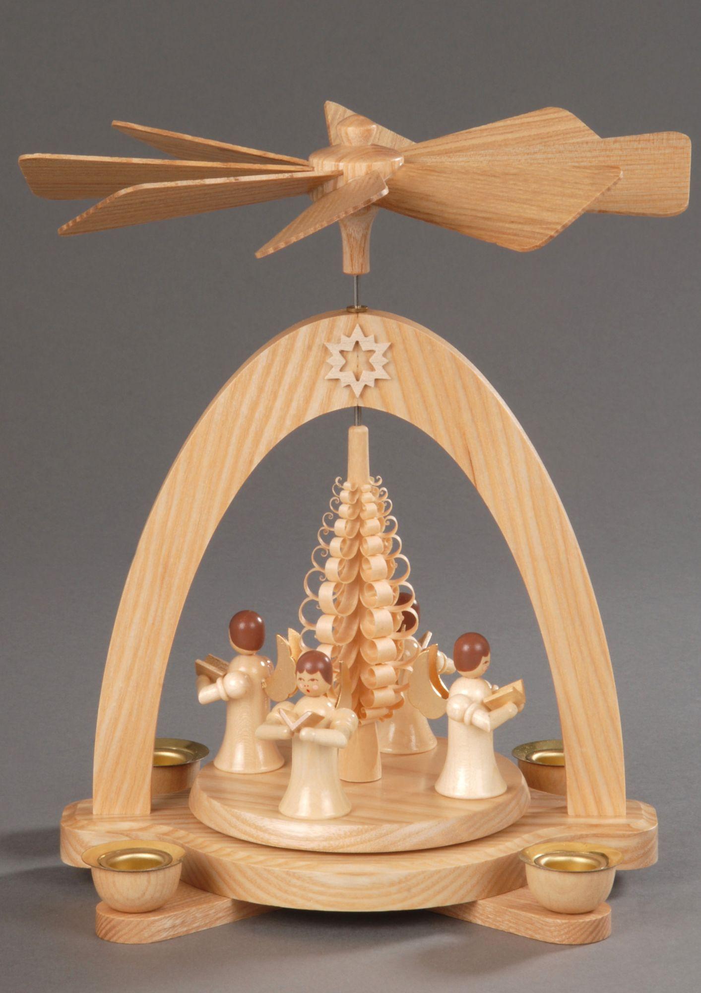 ALBIN PREISSLER Weihnachts-Pyramide, natur, Albin Preißler