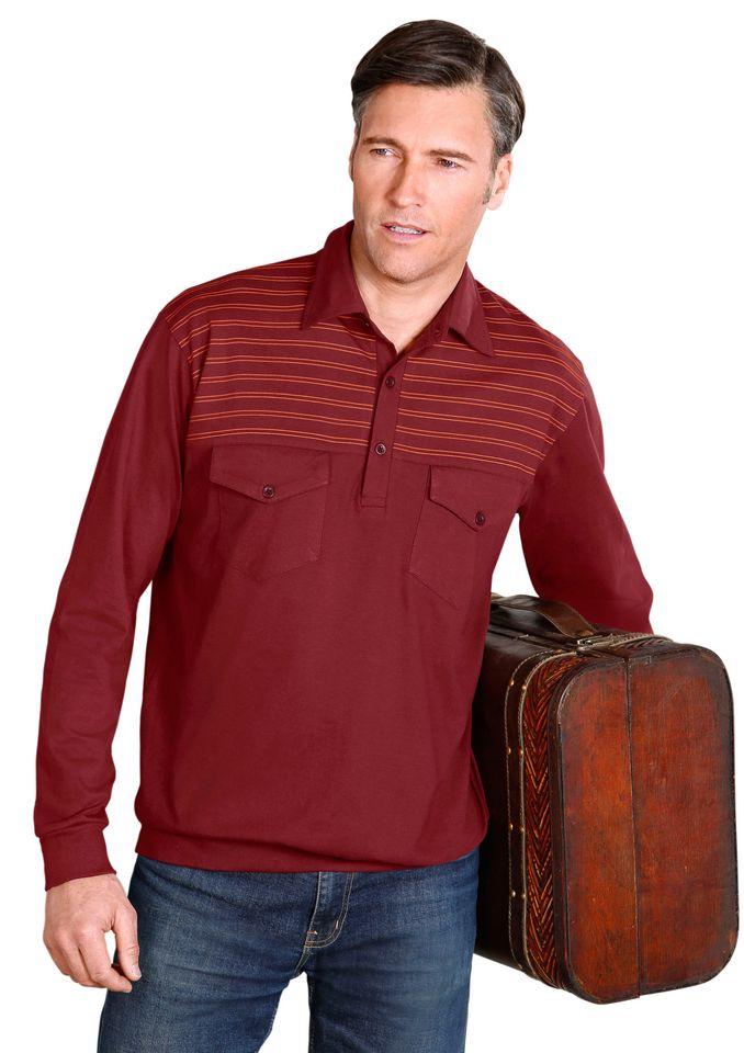 CLASSIC Classic Poloshirt mit Bündchen an Ärmeln und Saum