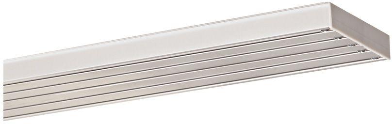 INDEKO Flächenvorhangschiene, Indeko, nach Maß, Aluminium, 3- und 5-läufig