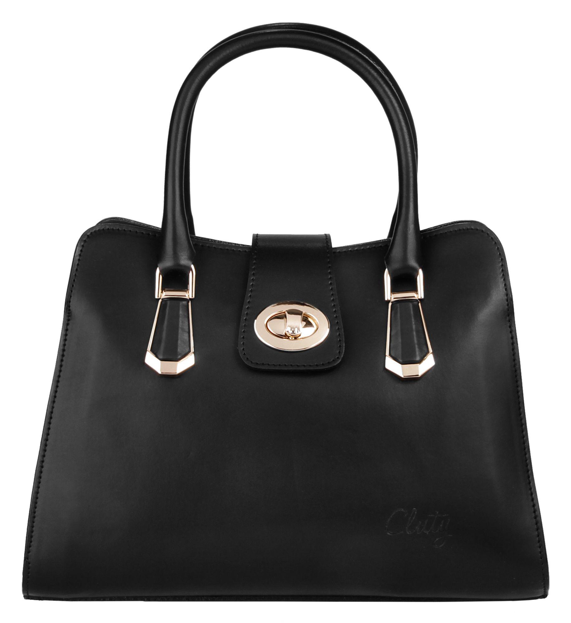 CLUTY Cluty Leder Damen Handtasche