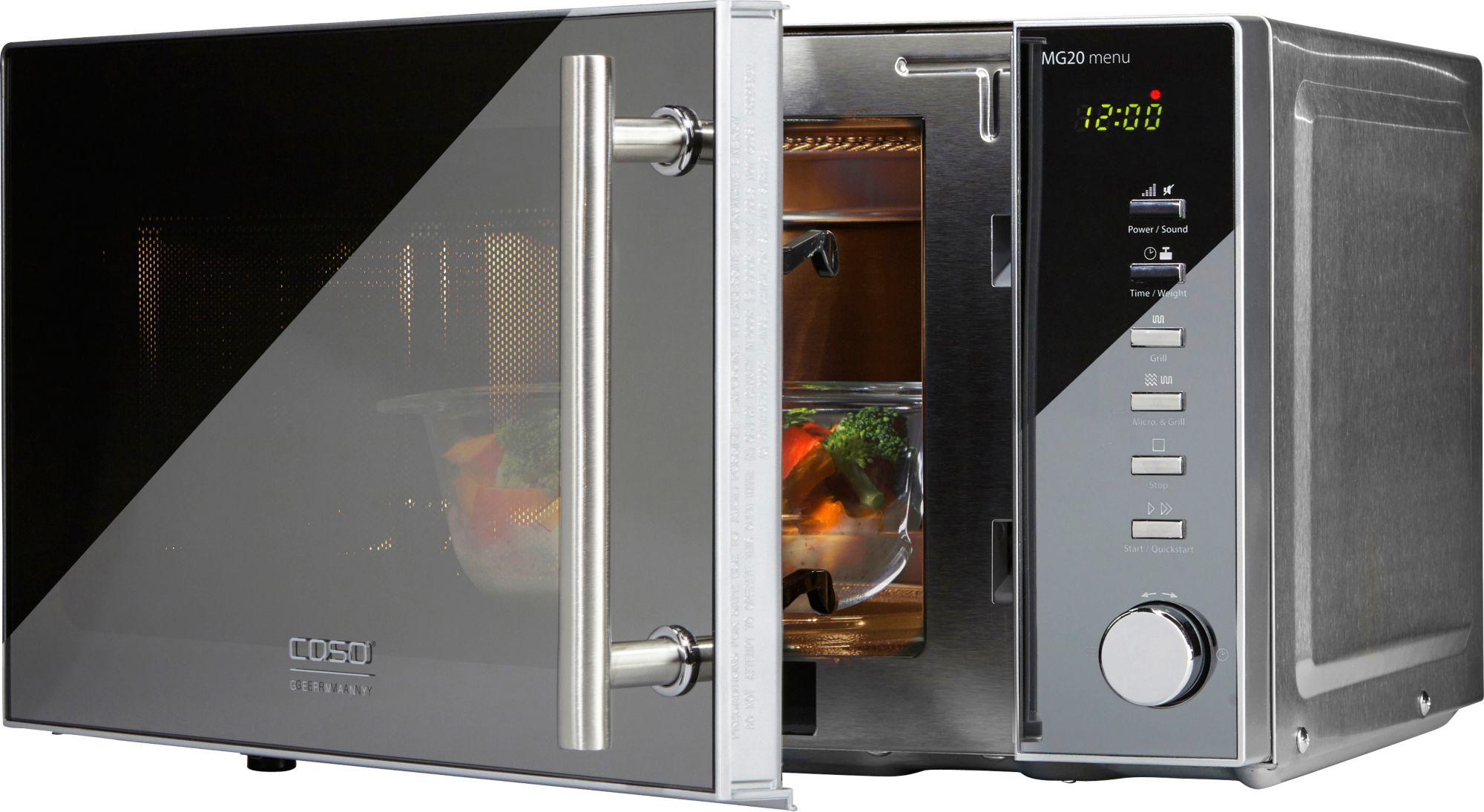 CASO DESIGN CASO Design Mikrowelle MG 20 menu, mit Grill, 20 Liter Garraum, 800 Watt