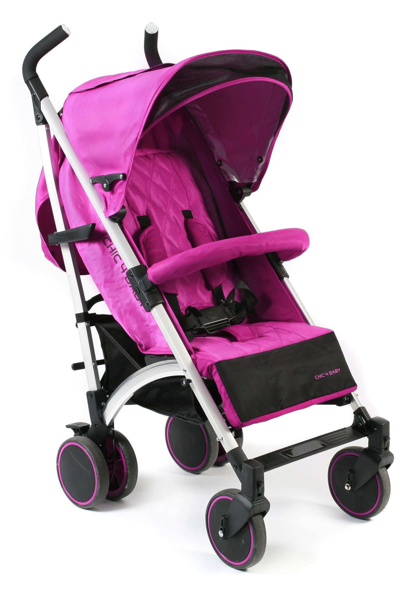 CHIC4BABY , Kinder-Buggy »Luca, fuchsia«
