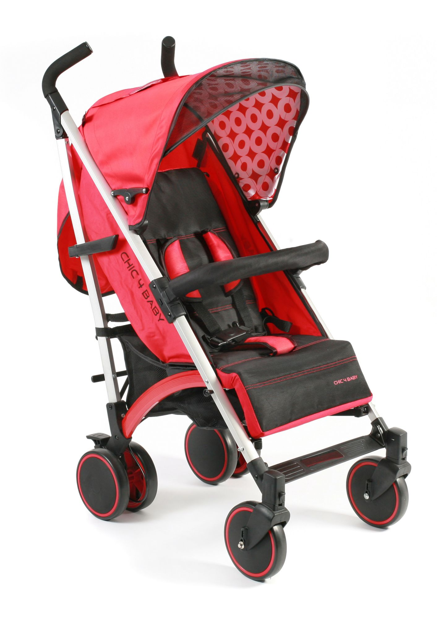 CHIC4BABY , Kinder-Buggy »Luca, rot«