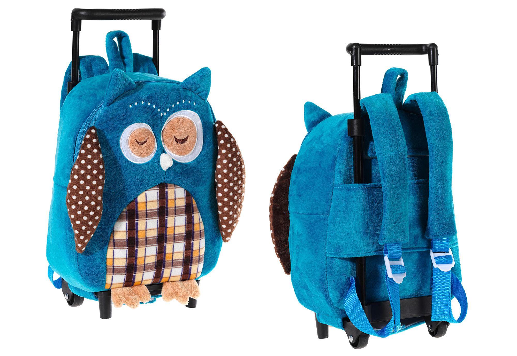 HEUNEC Heunec Kinder Rucksack mit Trolleyfunktion »Eule«