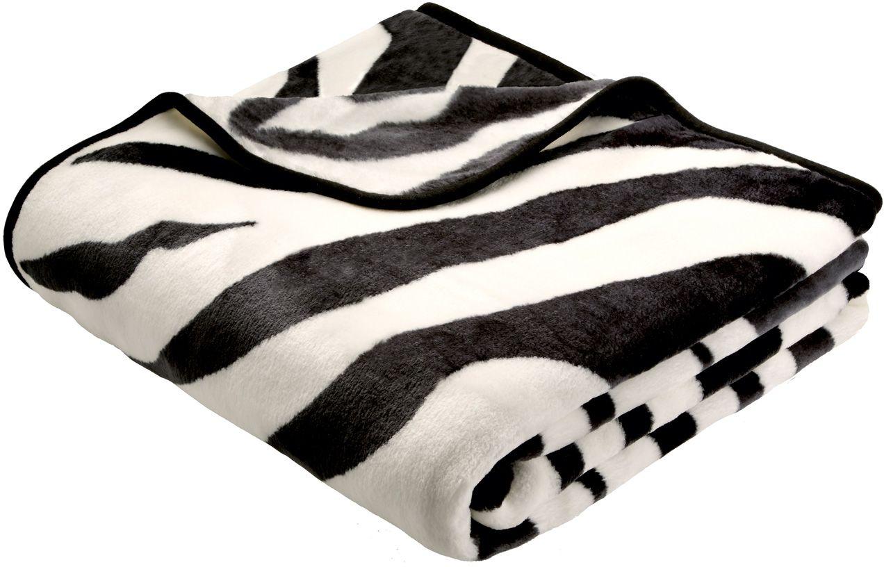 BIEDERLACK Wohndecke, Biederlack, »Zebra«, Animalprint