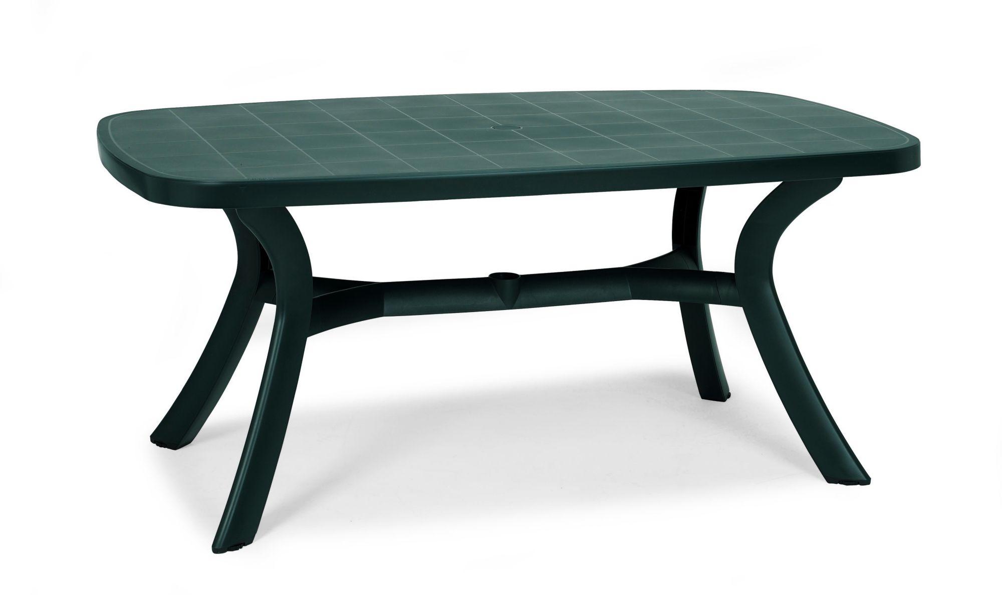 BEST best freizeitmöbel Tisch Kansas, oval, grün