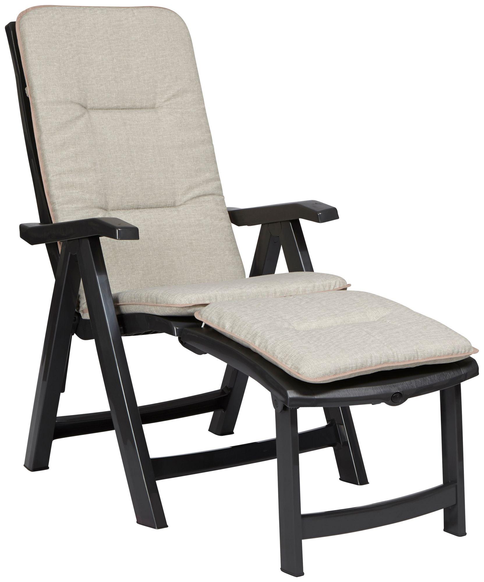BEST best freizeitmöbel Deckchair Florida, anthrazit inkl. Auflage
