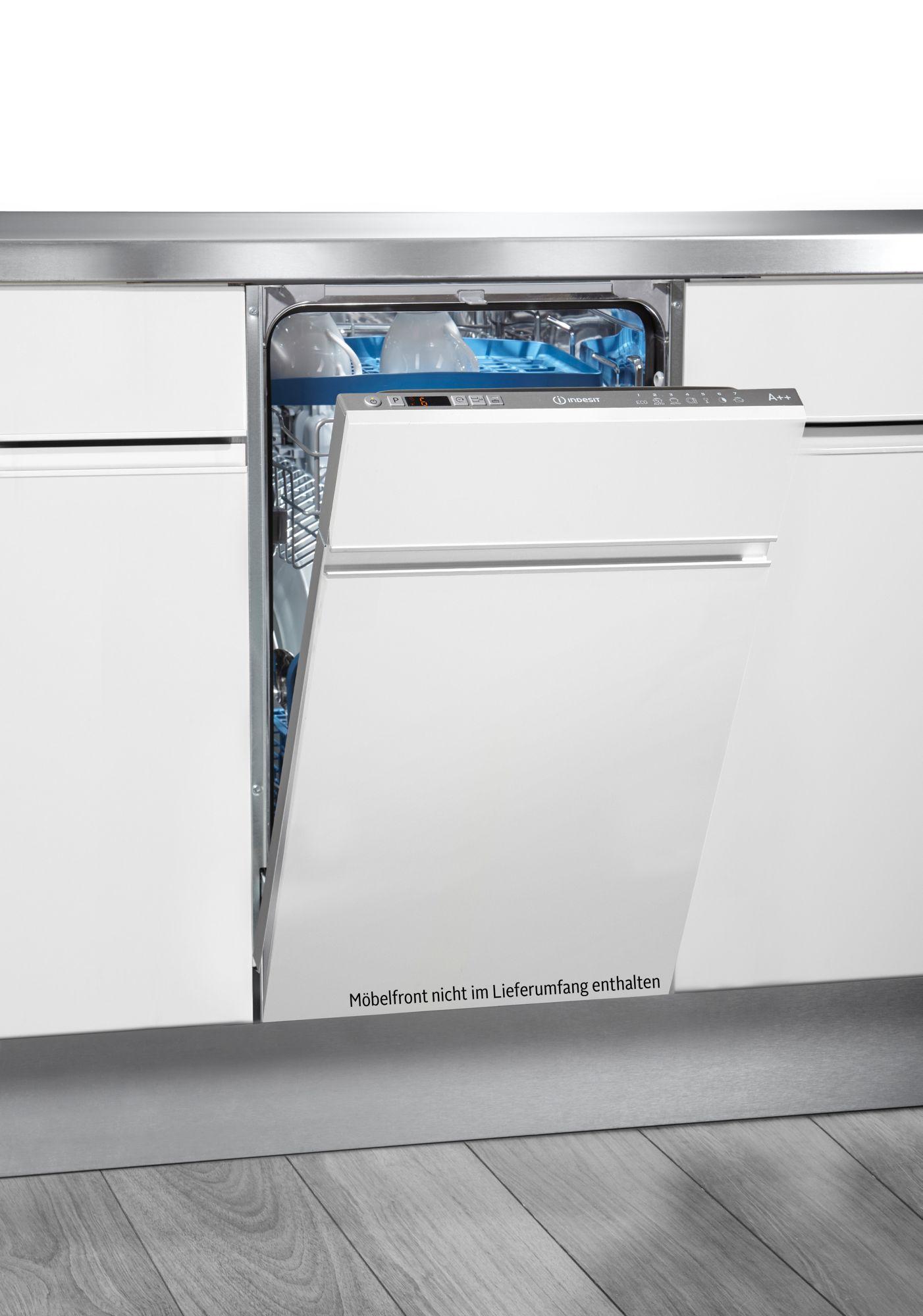 INDESIT Indesit vollintegrierbarer Einbau-Geschirrspüler DISR 57M94 CA EU, A++, 9 Liter