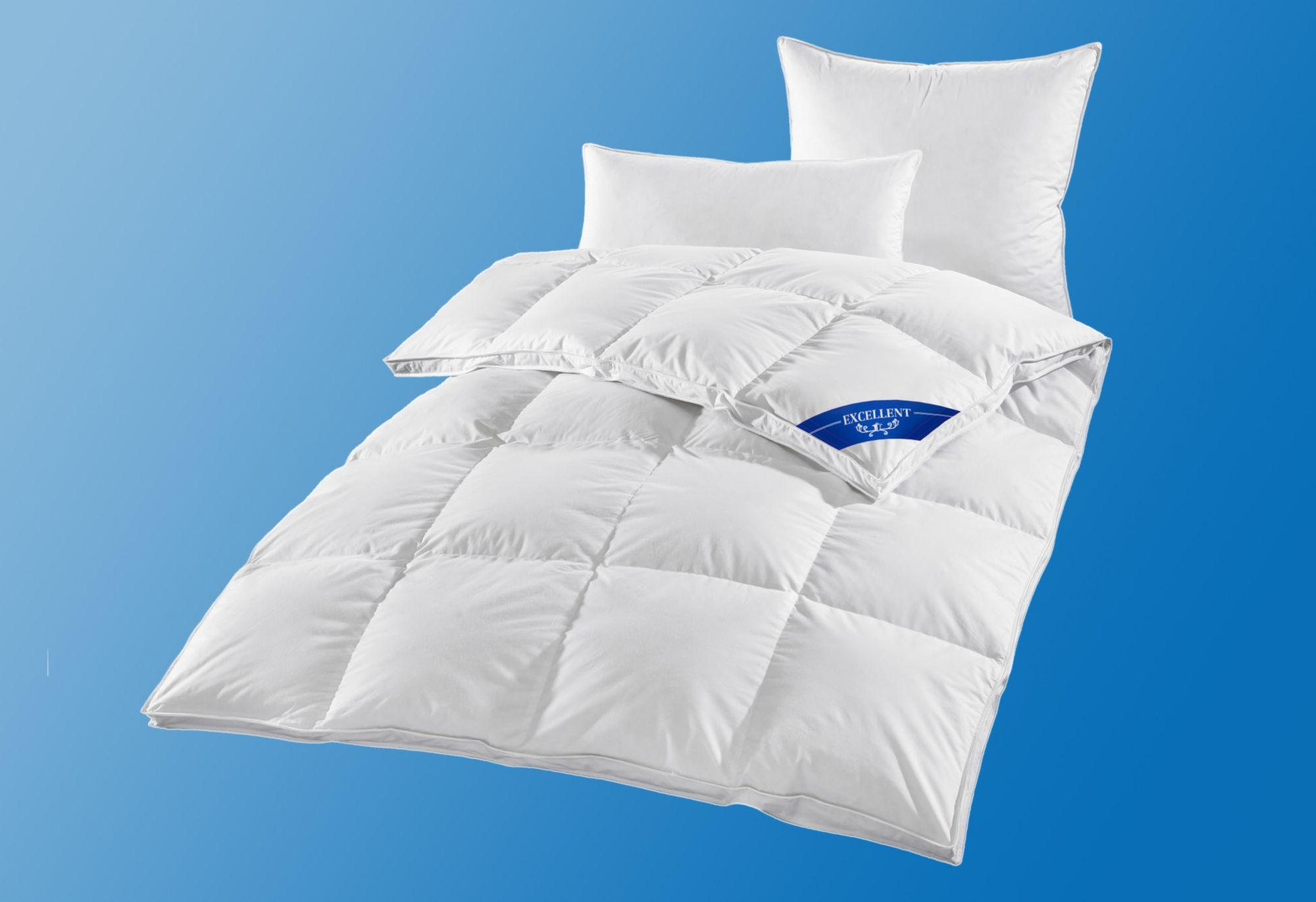 EXCELLENT Bettdeckenset Excellent Premium, Extra Warm, 100% Gänsedaunen