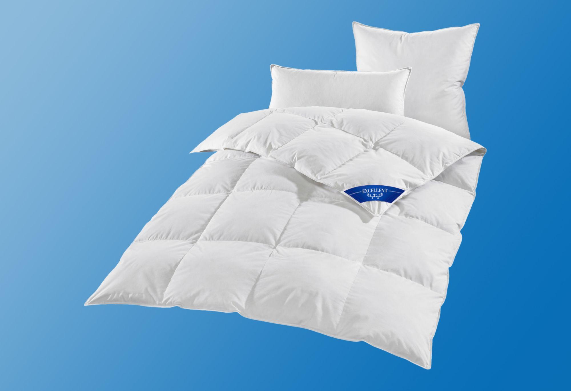 EXCELLENT Bettdeckenset Excellent Premium, Warm, 100% Gänsedaunen