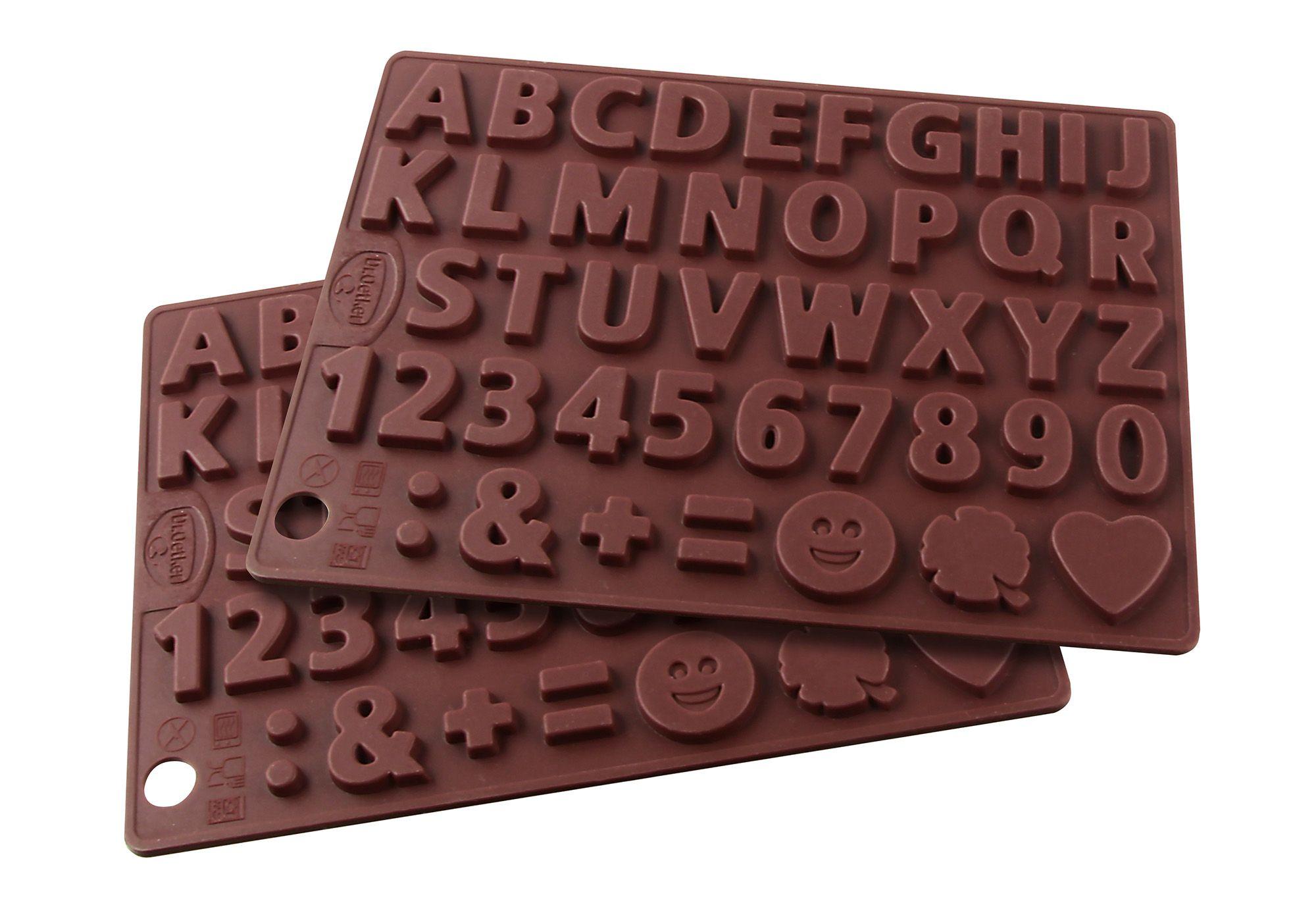 DR OETKER Silikon-Schokoladenform, »Buchstaben und Zahlen«, Dr. Oetker (2er Set)