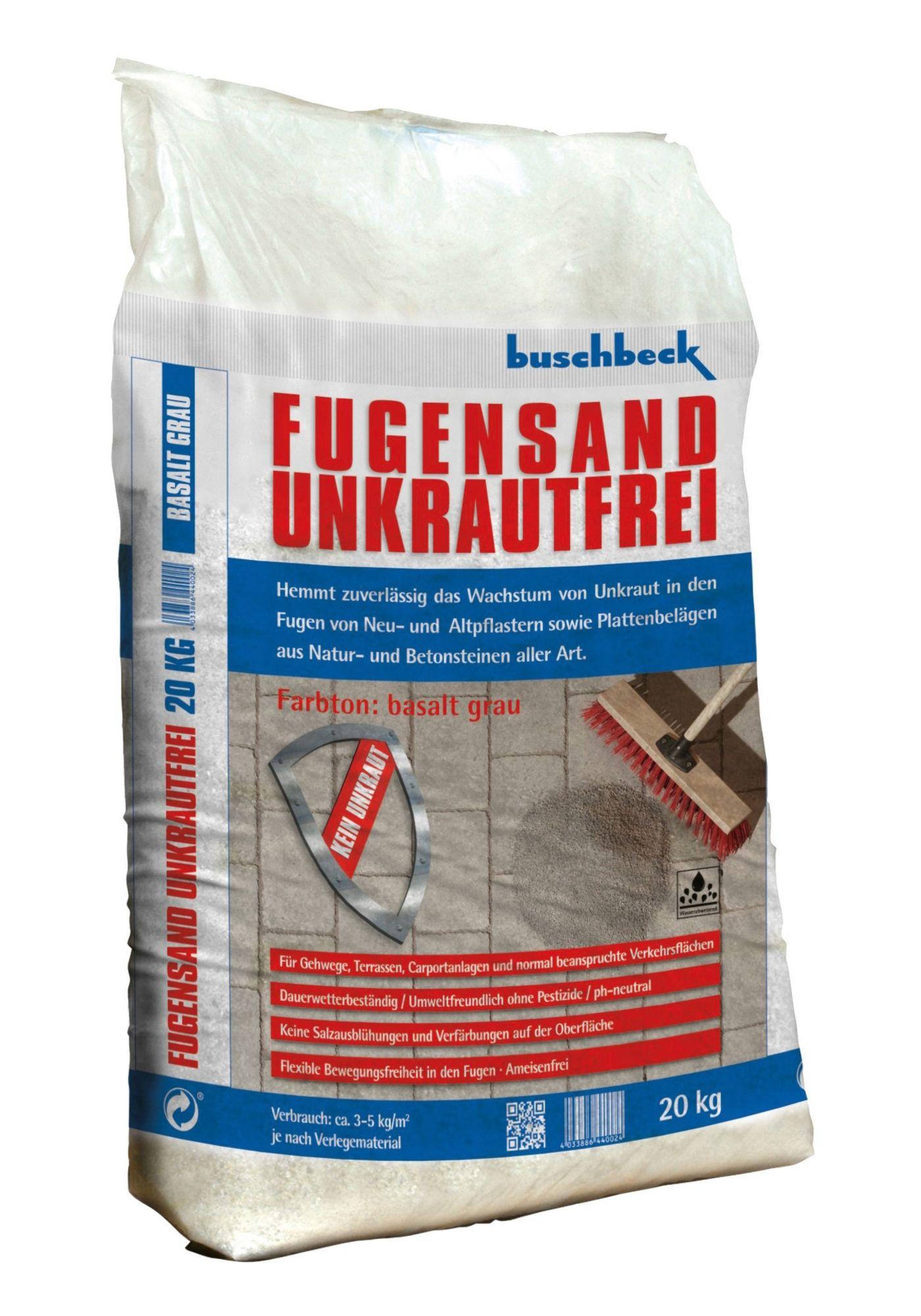 BUSCHBECK Buschbeck Fugensand Unkrautfrei, grau
