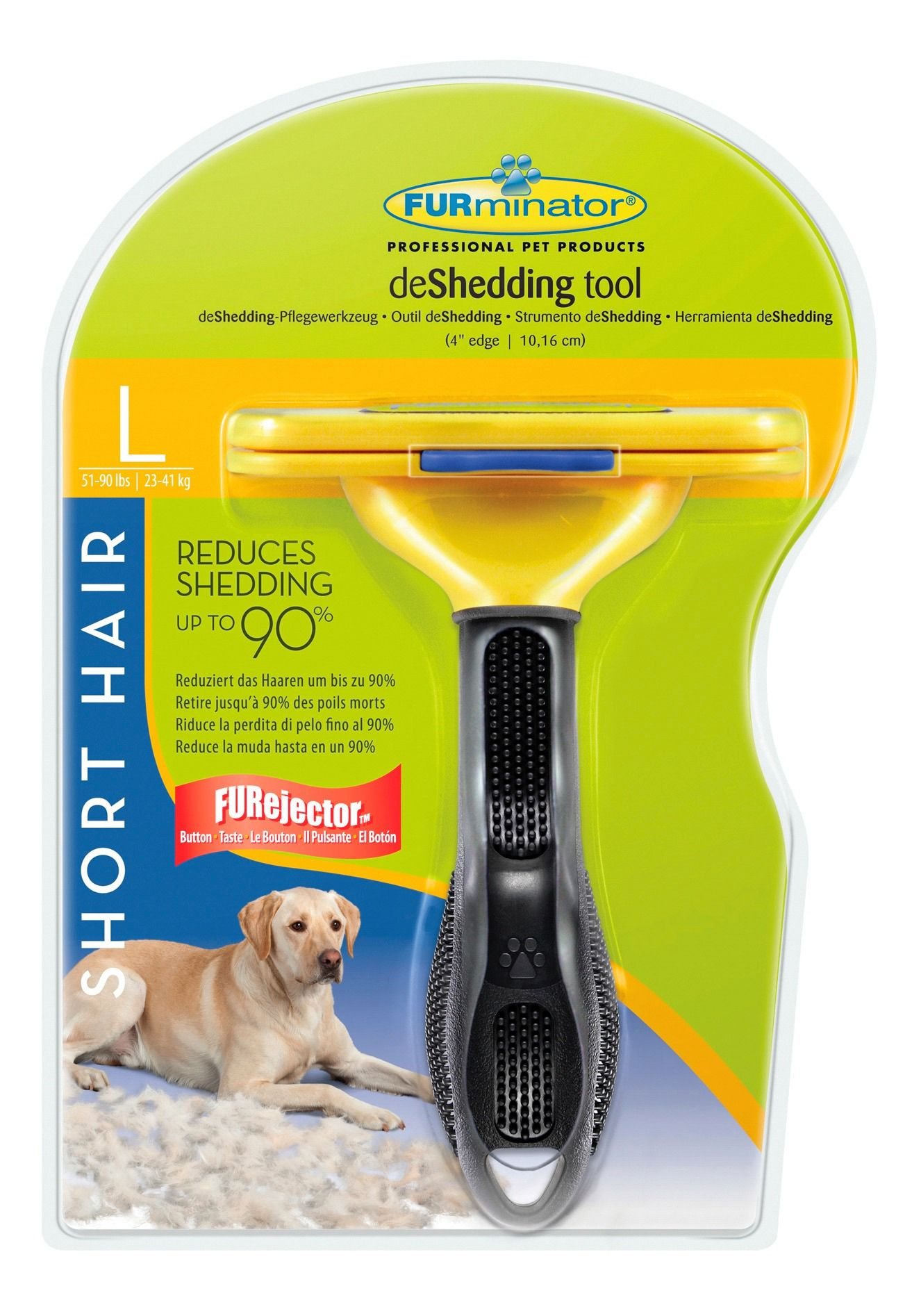 FURMINATOR Hundepflegebürste »FURminator deShedding Werkzeug Kurzhaar L«