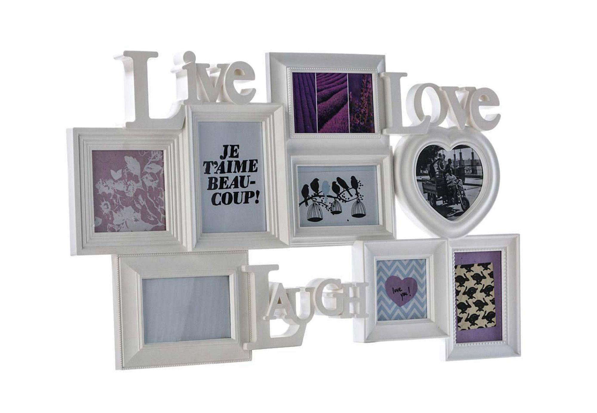 HOME AFFAIRE Best of home Bilderrahmen Live Love Laugh 48 cm x 75 cm x 3 cm