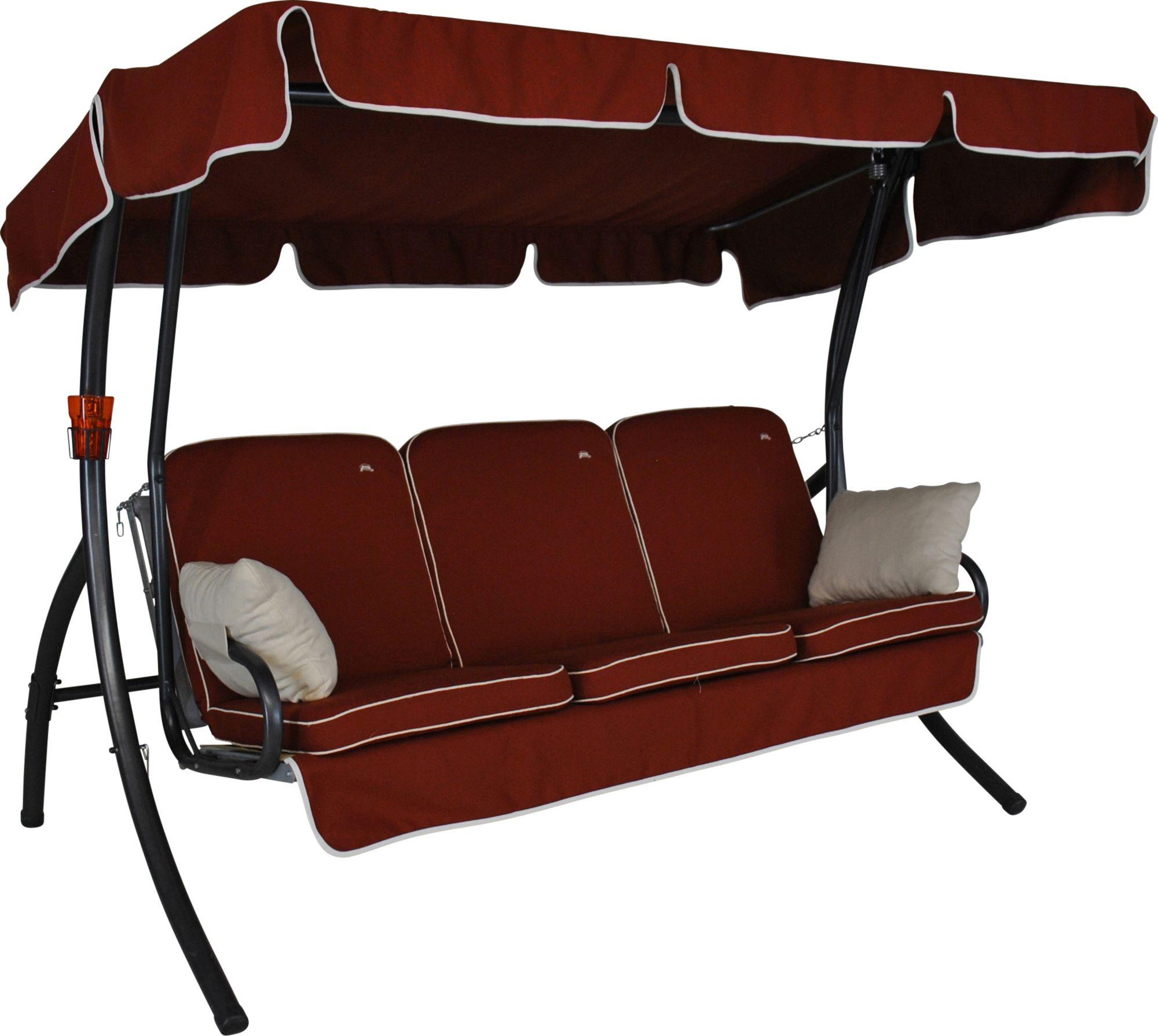 ANGERER FREIZEITMÖBEL  Hollywoodschaukel »Comfort Style«, 3-Sitzer, rot