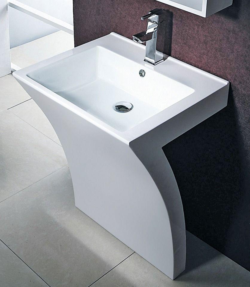 CORNAT Cornat Mineralgussmarmor Waschplatz / Waschbecken »Seven« Breite 55,5 cm