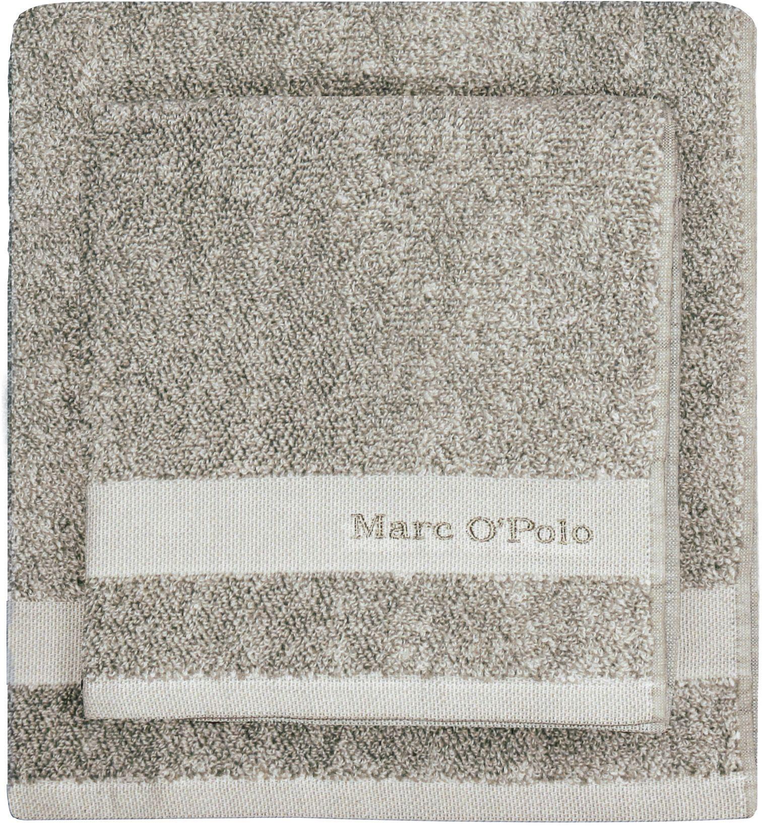 MARC OPOLO HOME Badetuch, Marc O'Polo Home, »Melange«, mit Logostickerei