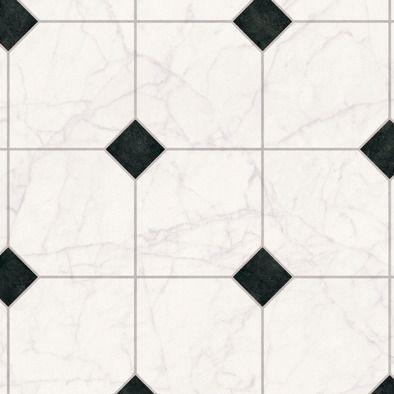 ANDIAMO Andiamo PVC-Boden »Strong«, Fliese weiß-schwarz
