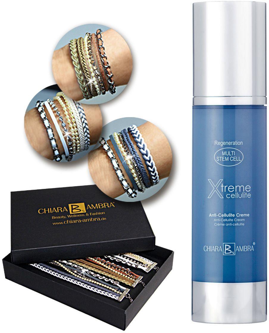 CHIARA AMBRA Chiara Ambra, »Regeneration Multi Stem Cell«, Xtreme Cellulite Dispenser + gratis Armbänder