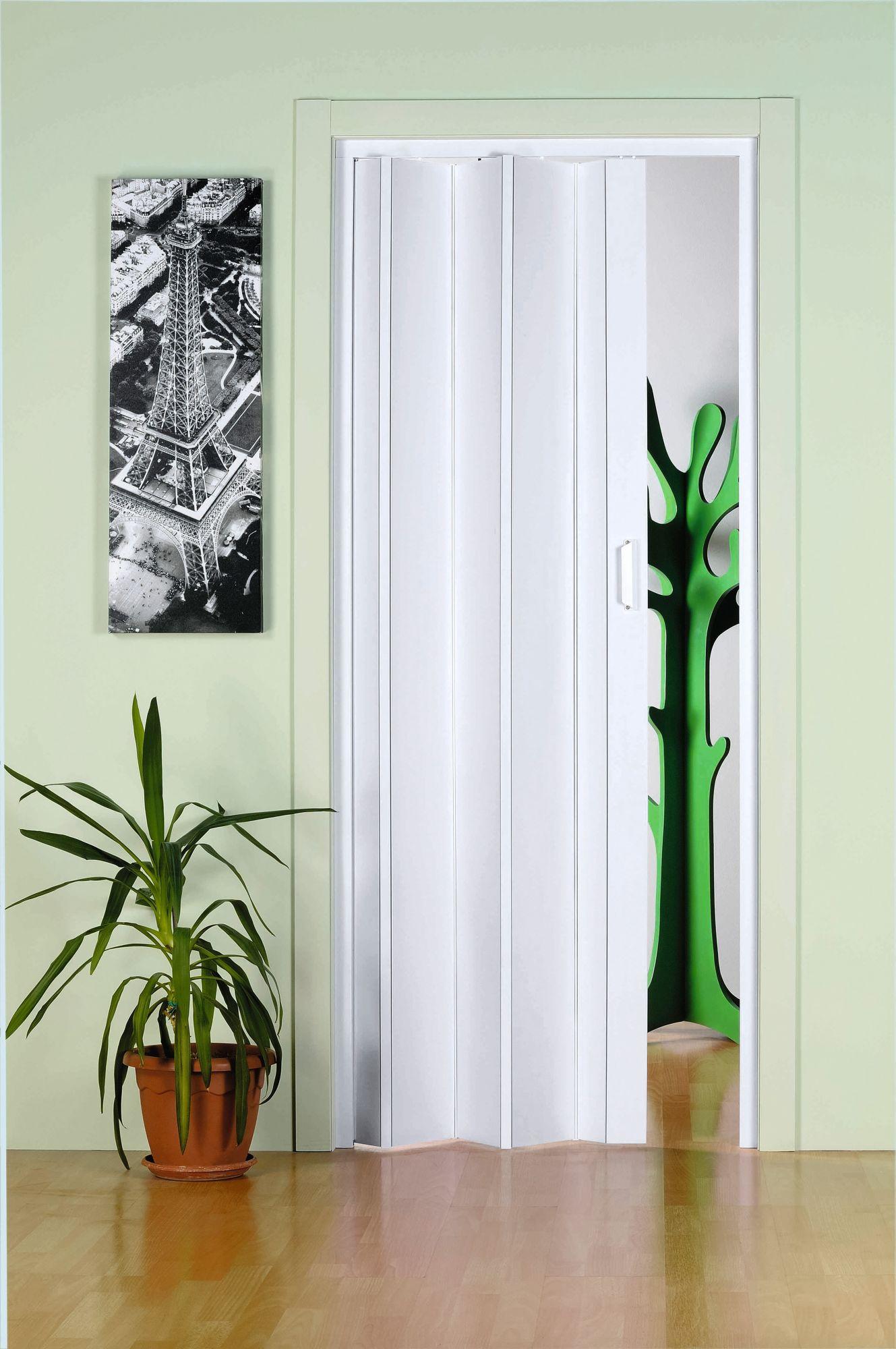 Kunststoff-Falttür »Monica«, BxH: 83x204 cm, Weiß ohne Fenster