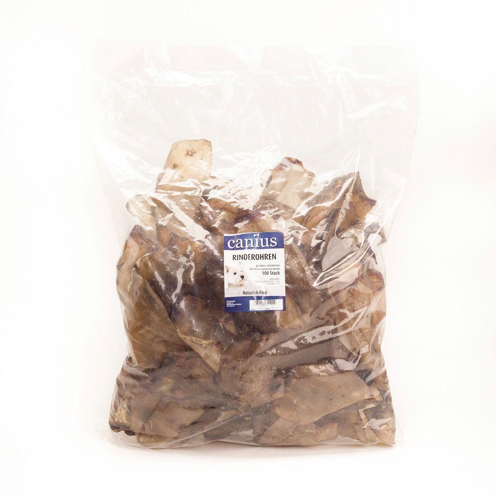 CANIUS Hundesnack »Rinderohren, getrocknet«, 100 Stück im Beutel