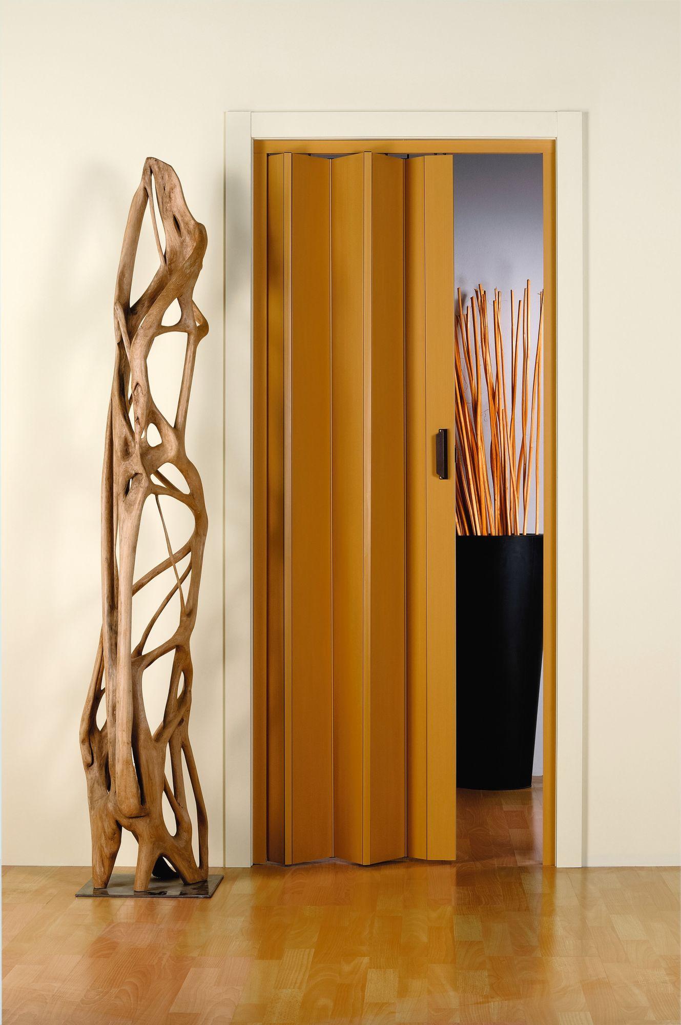 Kunststoff-Falttür »Monica«, BxH: 83x204 cm, Eichefarben-Pastell ohne Fenster