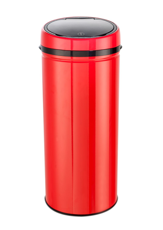 ECHTWERK Edelstahl-Abfalleimer Easy Touch, 42 Liter, »INOX RED«, Echtwerk