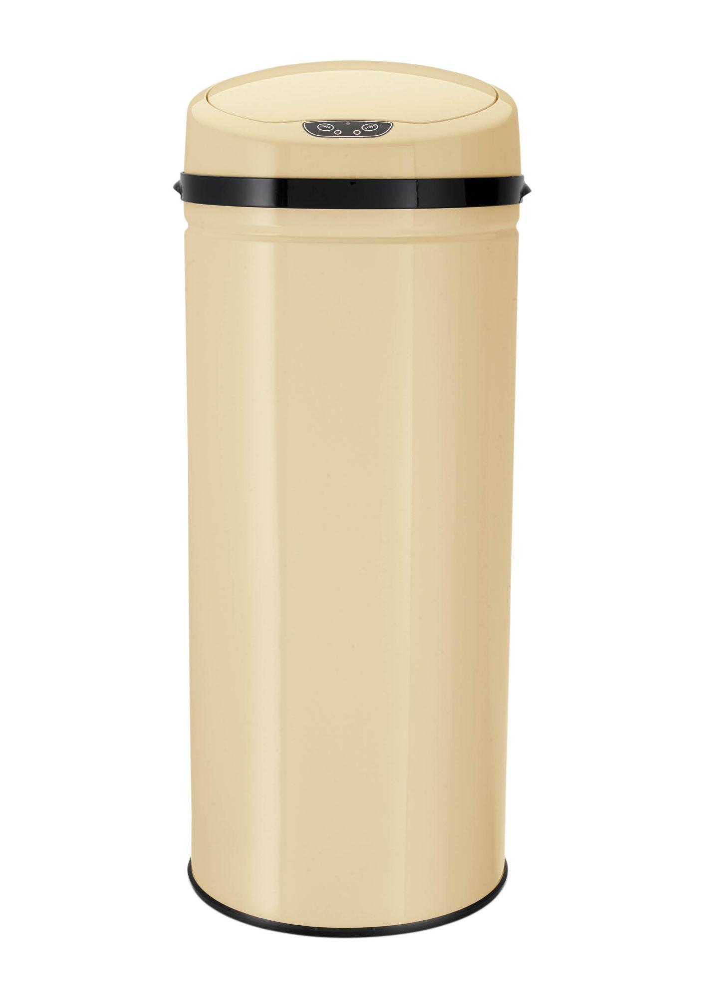 ECHTWERK Edelstahl-Abfalleimer mit Infrarotsensor, 42 Liter, »INOX VANILLA«, Echtwerk