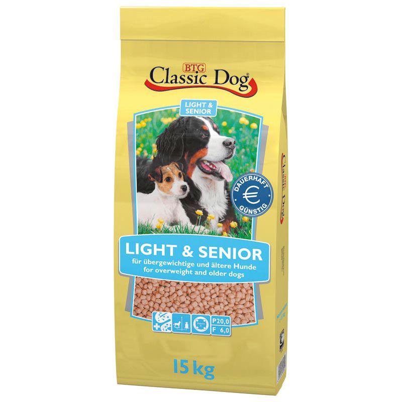 CLASSIC DOG Classic Dog Hundetrockenfutter »Light & Senior«, 15 kg