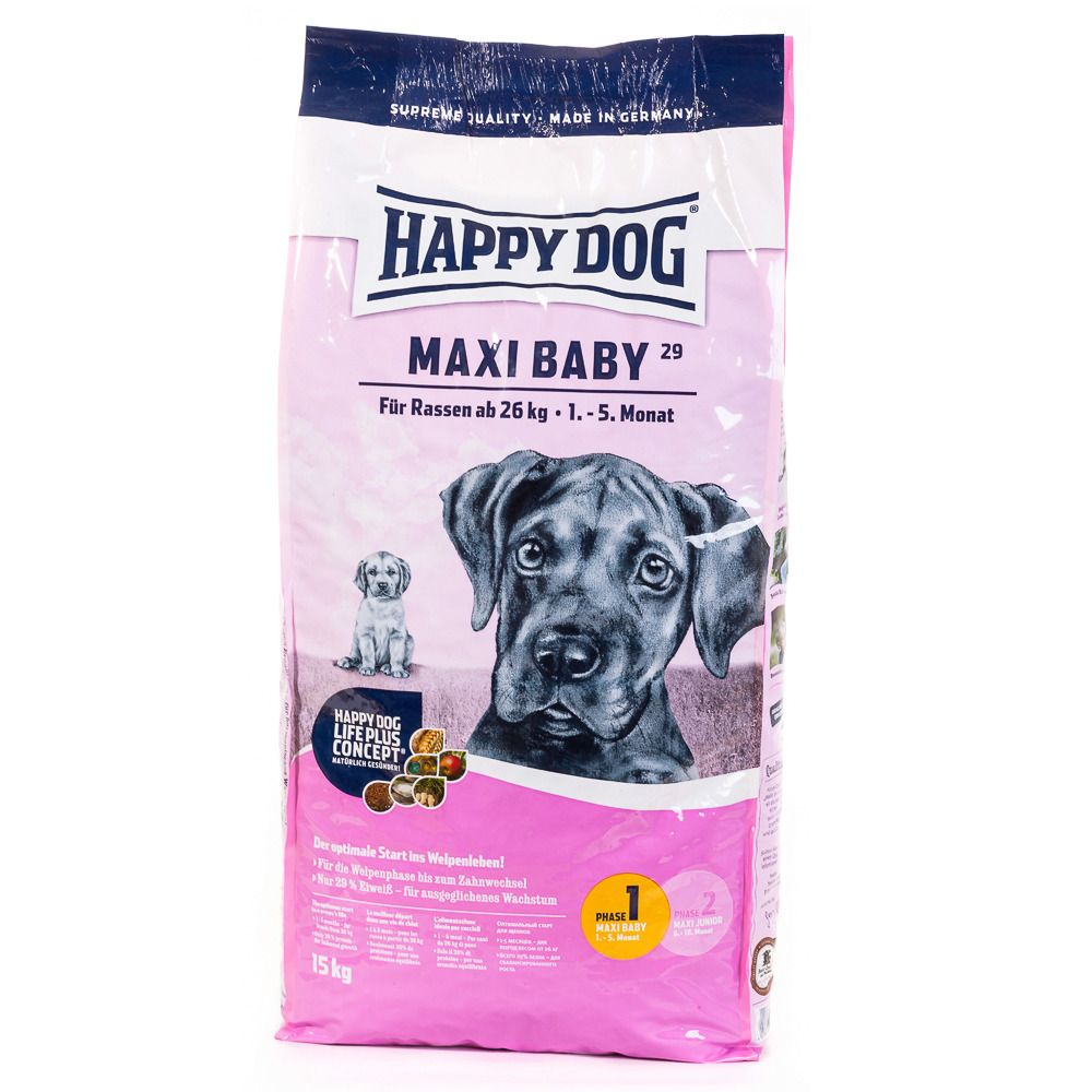HAPPY DOG Hundetrockenfutter »Maxi Baby«, 15 kg
