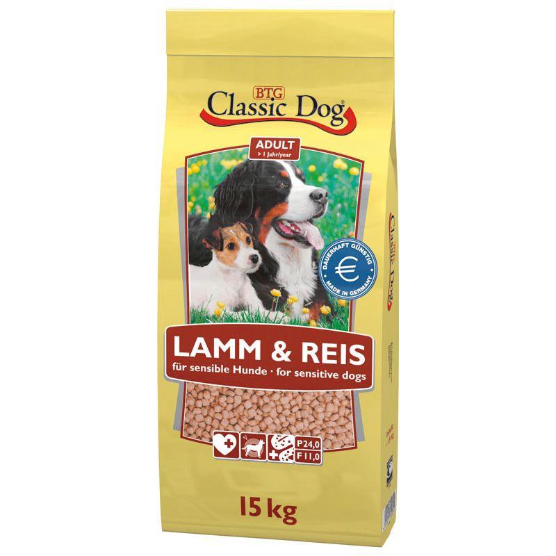 CLASSIC DOG Classic Dog Hundetrockenfutter »Adult Lamm & Reis«, 15 kg