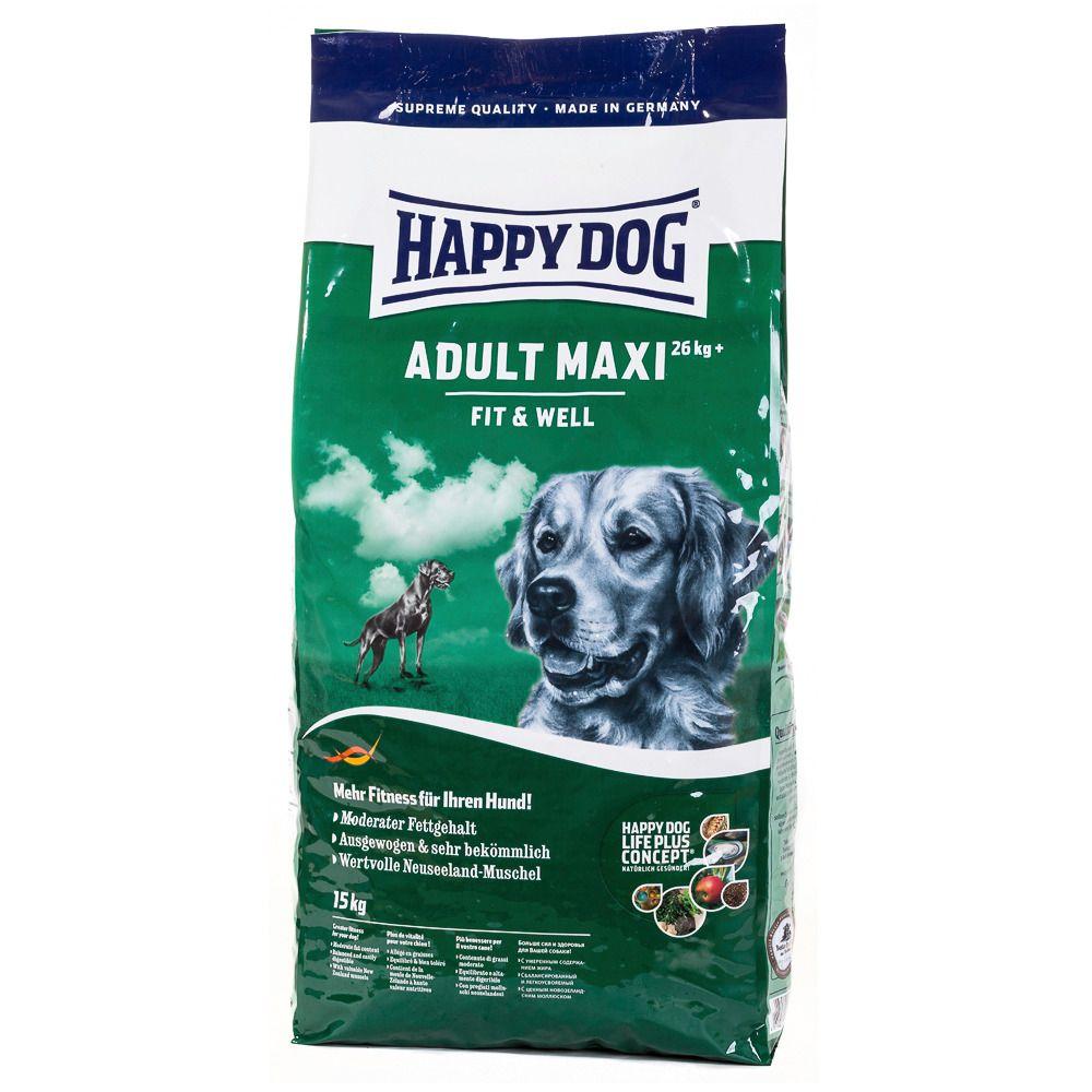 HAPPY DOG Hundetrockenfutter »Supreme Fit & Well Maxi Adult«, 15 kg