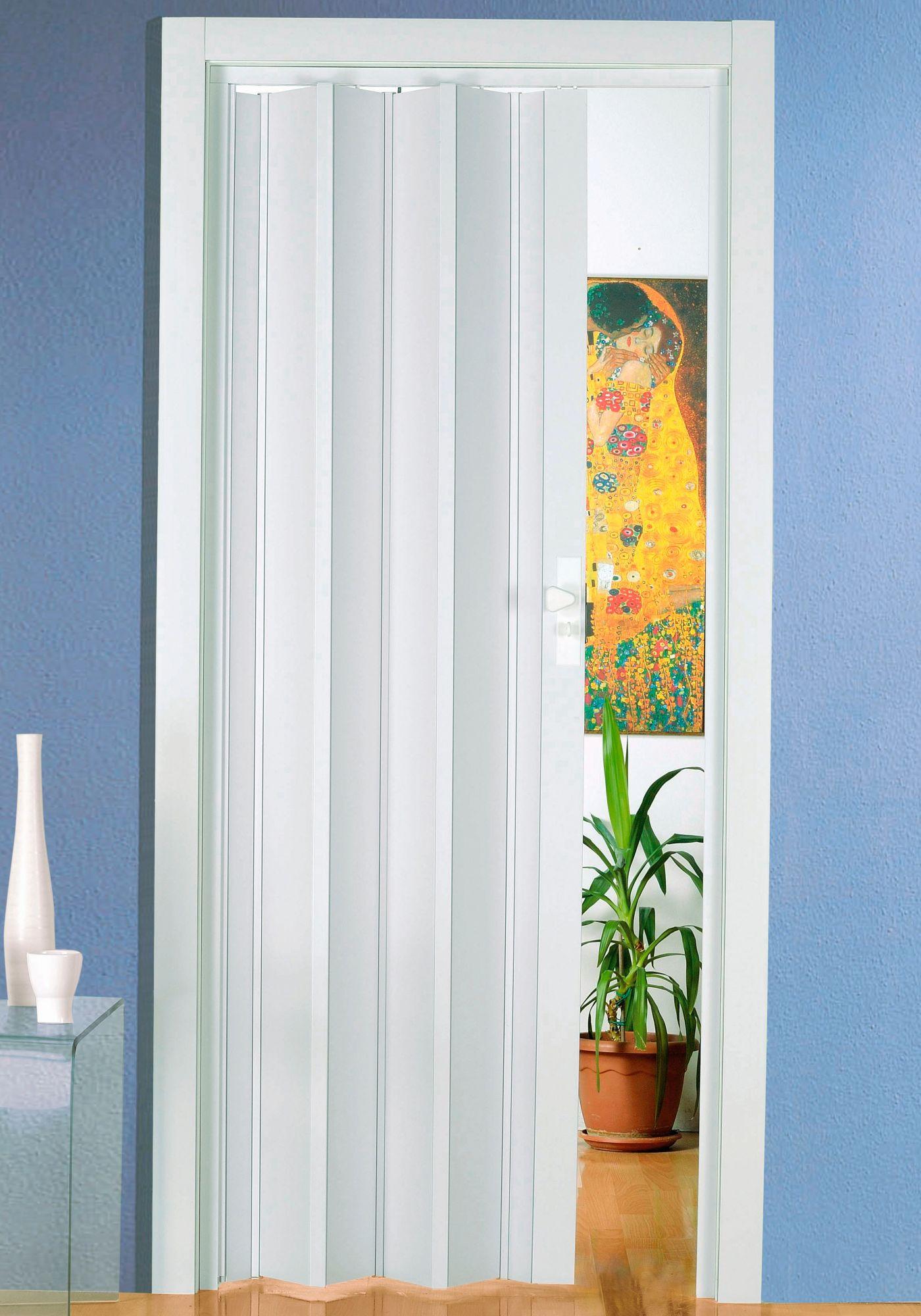 Kunststoff-Falttür »Luciana«, BxH: 88,5x202 cm, -Pastell-weiß ohne Fenster