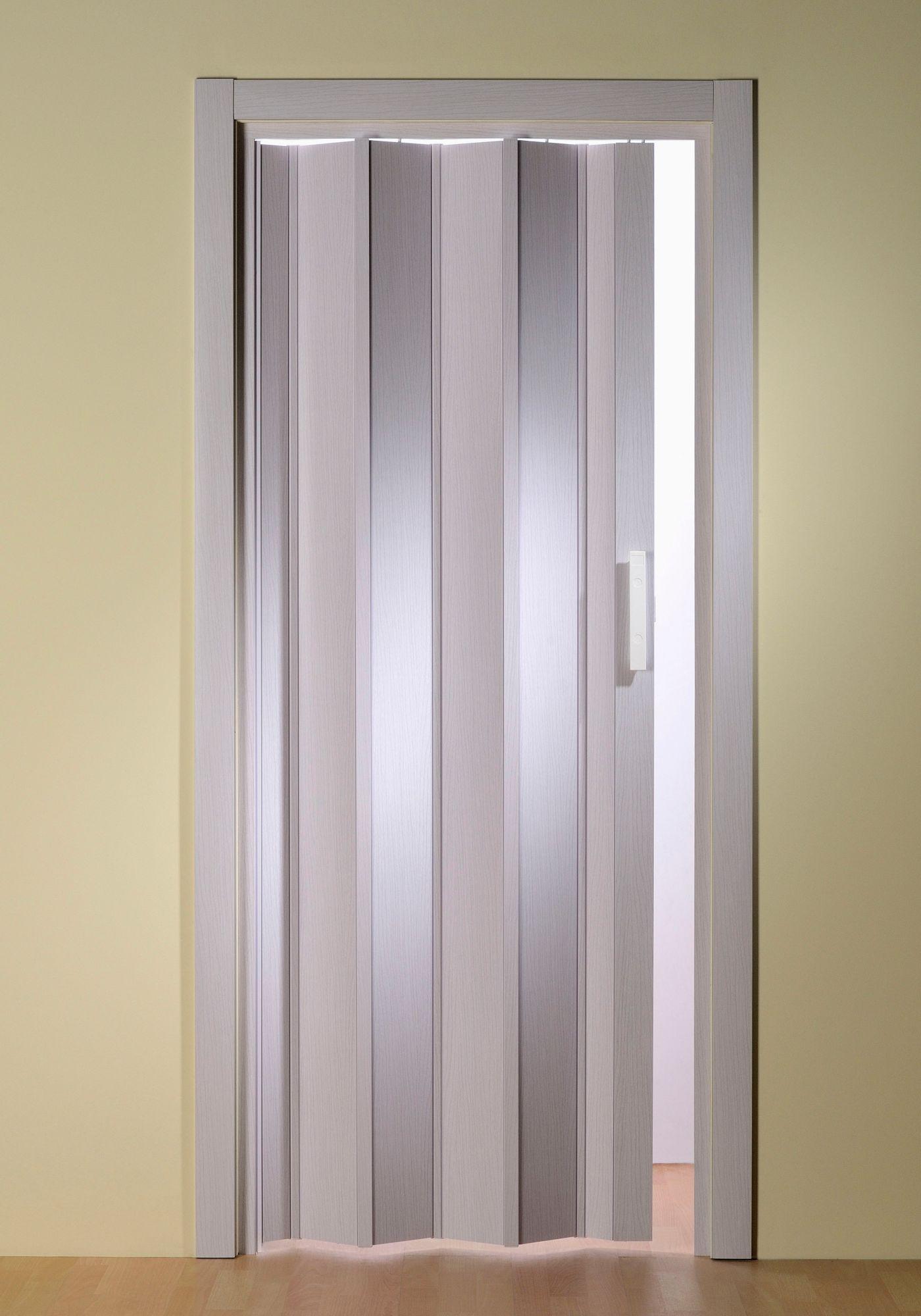 Kunststoff-Falttür »Luciana«, BxH: 88,5x202 cm, Esche weiß ohne Fenster