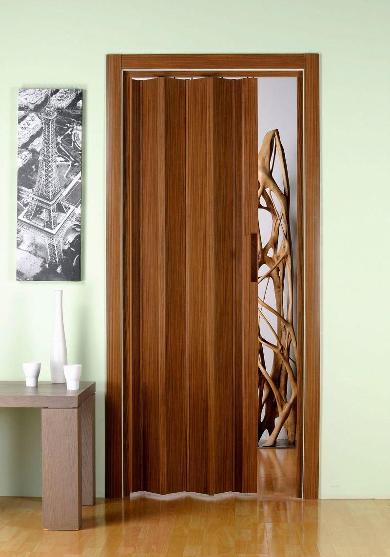 Kunststoff-Falttür »Luciana«, BxH: 88,5x202 cm, Eichefarben dunkel ohne Fenster
