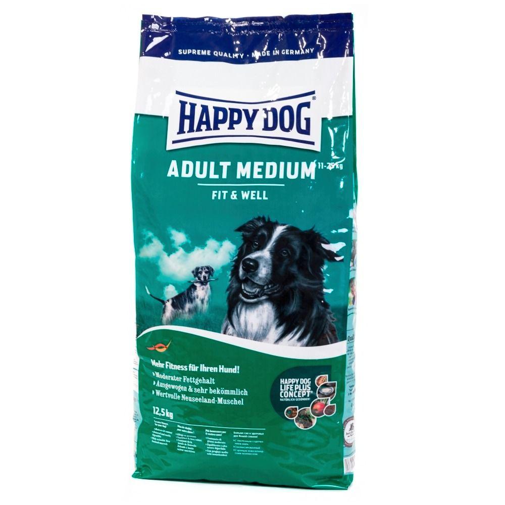 HAPPY DOG Hundetrockenfutter »Supreme Fit & Well Medium Adult«, 12,5 kg
