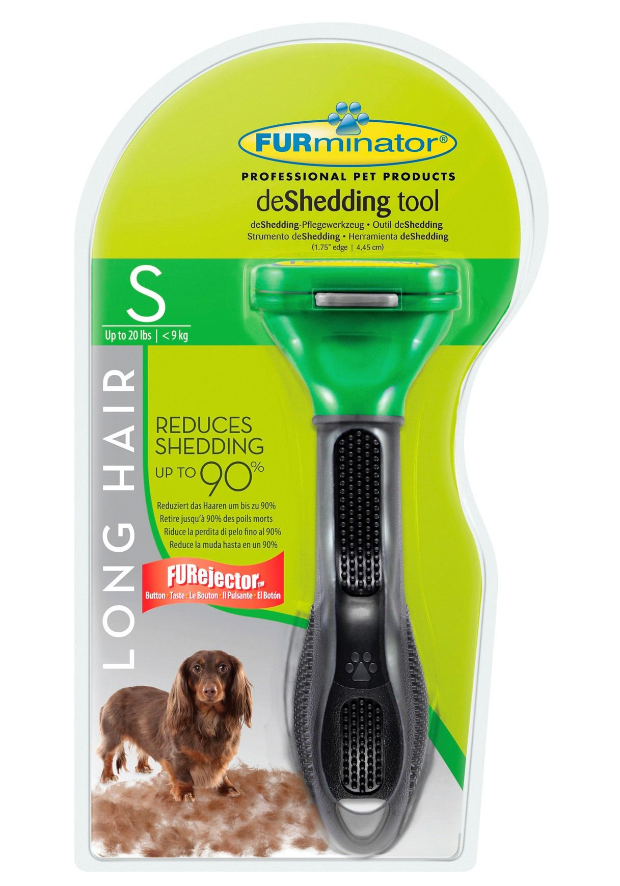 FURMINATOR Hundepflegebürste »FURminator - deShedding Long Hair S« 4,5-9 kg