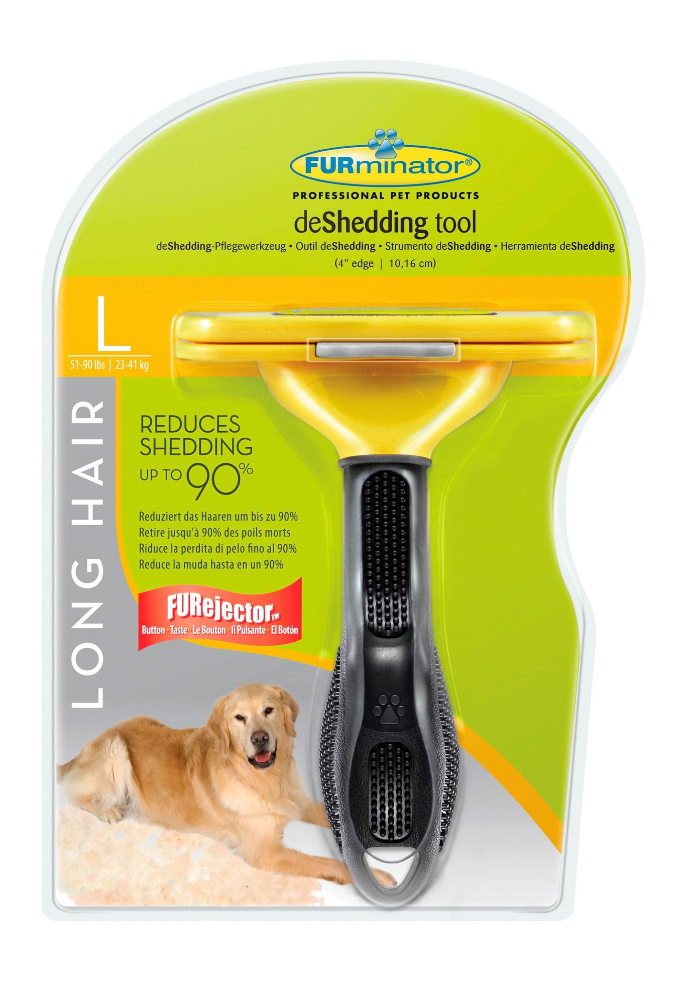 FURMINATOR Hundepflegebürste »FURminator - deShedding Long Hair L«