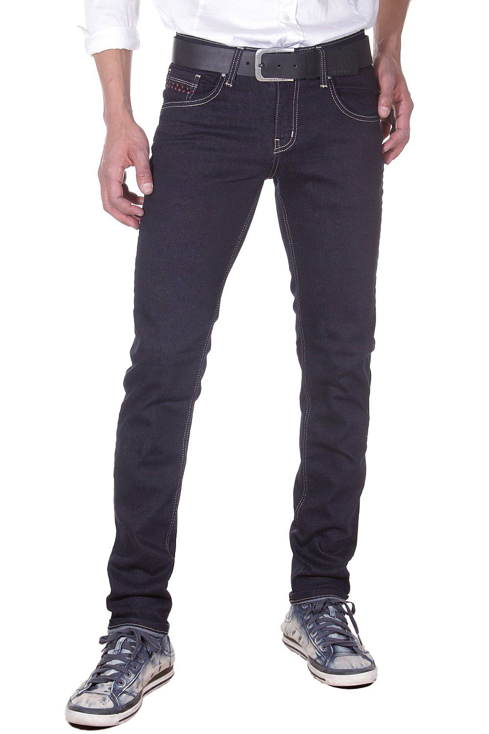 BRIGHT JEANS Bright Jeans Hüftjeans (Stretch) Slim Fit